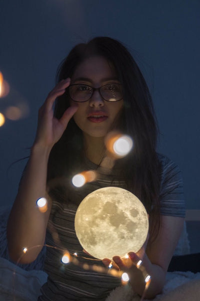 Buy Personalized Moon Lamp Personalized Remote 16 Color Moon Lamp Engraving Your Photos On Night Lights