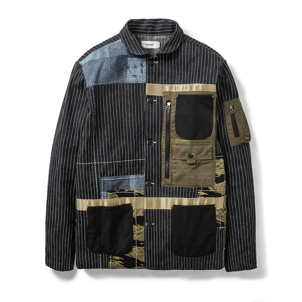 Nomad Coverall Pinstripe Black