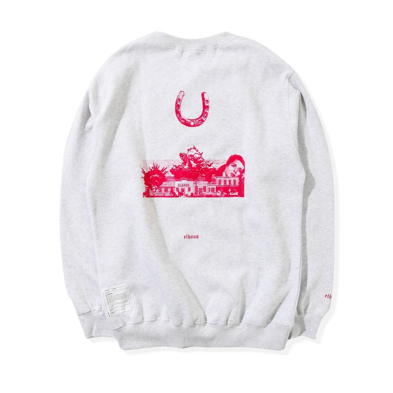Cowboy Crewneck Heather White