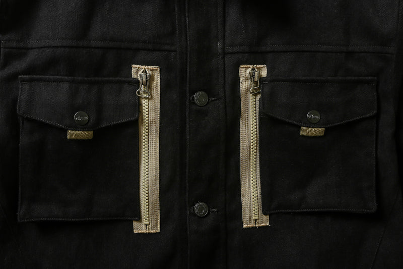 Ground Jacket Zip Mod Black