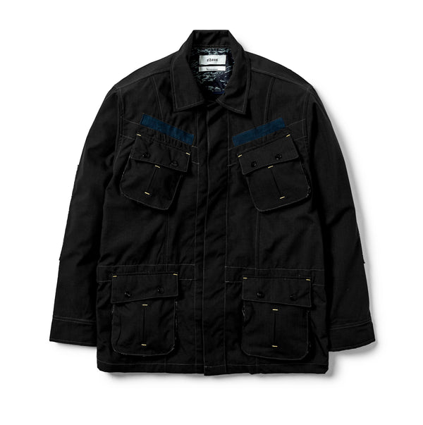 Jungle Jacket Ripstop/Indigo Camo Jacquard Black