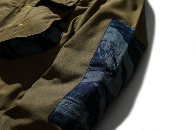 Jungle Jacket Ripstop Indigo Tiger Camo Olive