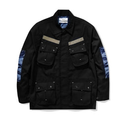 Jungle Jacket Ripstop Indigo Tiger Camo Black