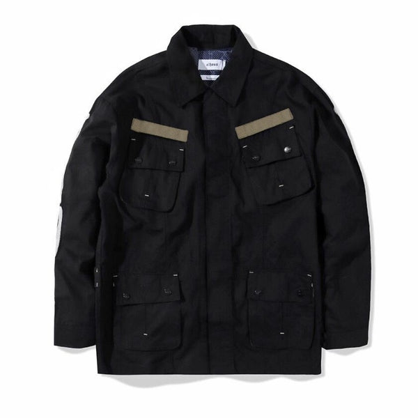 Jungle Jacket Slub Skull Black