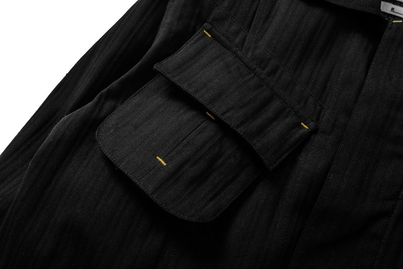 Jungle Jacket Herringbone/Sashiko Denim Black