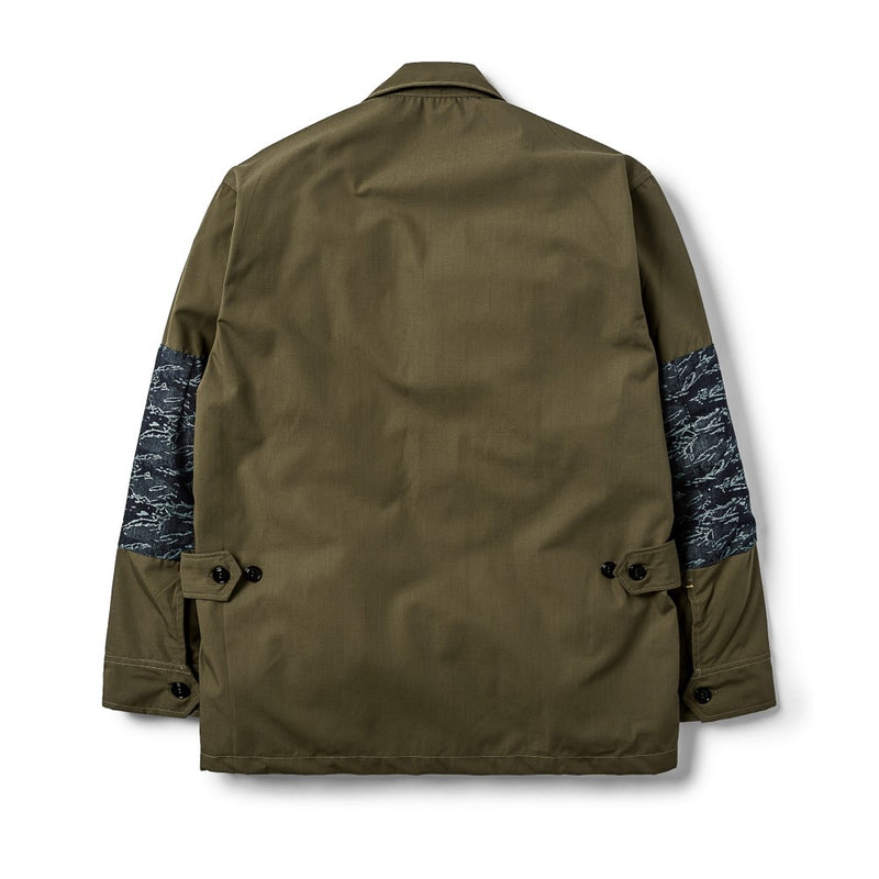 Jungle Jacket Ripstop/Indigo Camo Jacquard Olive