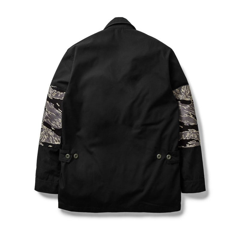 Jungle Jacket Tiger Camo/Ripstop Black