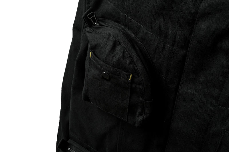 Service Jacket Herringbone Black