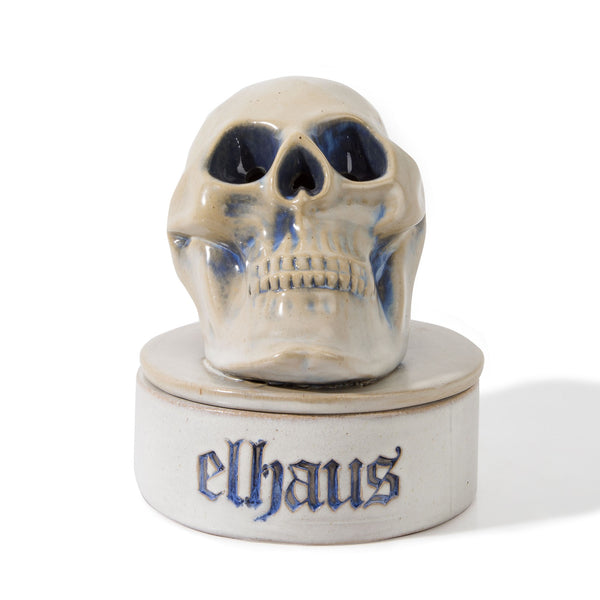 Skull Incense Chamber Blue