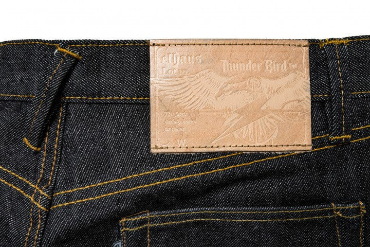 Thunder Bird Denim Iron Tail 16oz Black Indigo