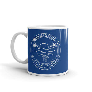 Green Conservative Blue Mug