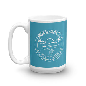 Green Conservative Turquoise Mug