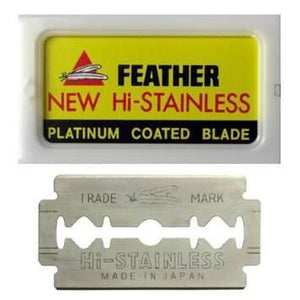 Feather Hi-Stainless Safety Razor Blades - 10 Pack - Airborne Beard and Shave Company