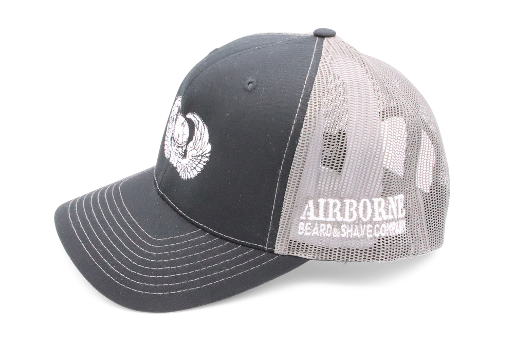 Black and Grey Hat - Airborne Beard and Shave Company