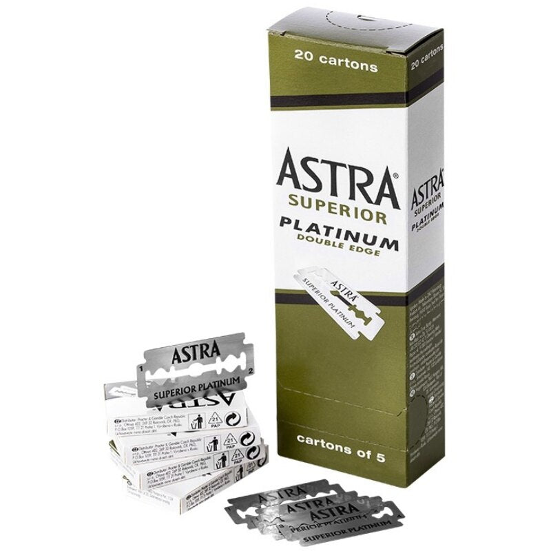 ASTRA Platinum Safety Razor Blades - 5/100 count