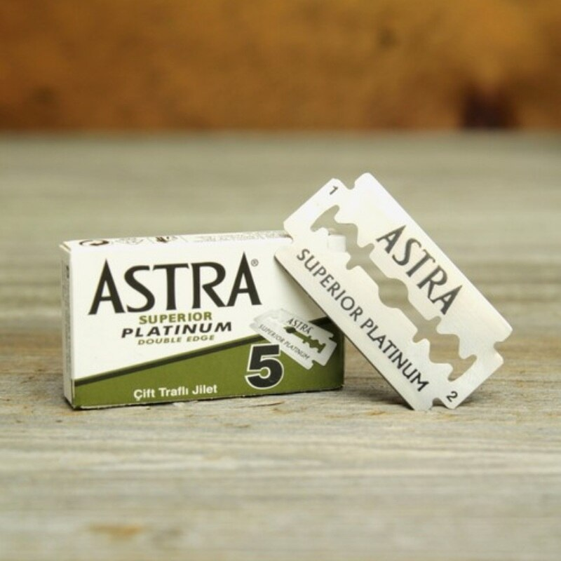 ASTRA Platinum Safety Razor Blades - 5/100 count - Airborne Beard and Shave Company