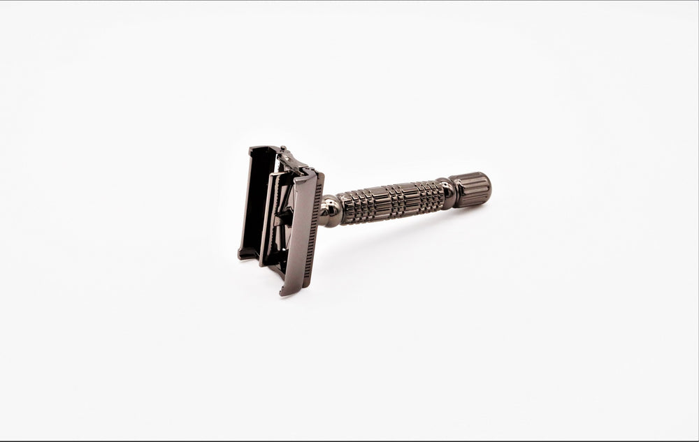 Gun Metal Butterfly Safety Razor - Airborne Beard and Shave Company