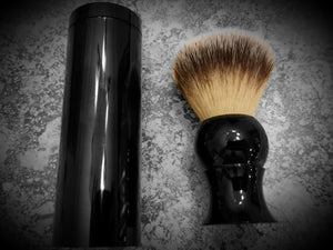 Synthetic Silvertip Badger Hair Shave Brush - Faux - Black - Airborne Beard and Shave Company