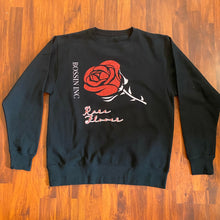 Load image into Gallery viewer, Rare Rose Crew Neck Glitter Sweater