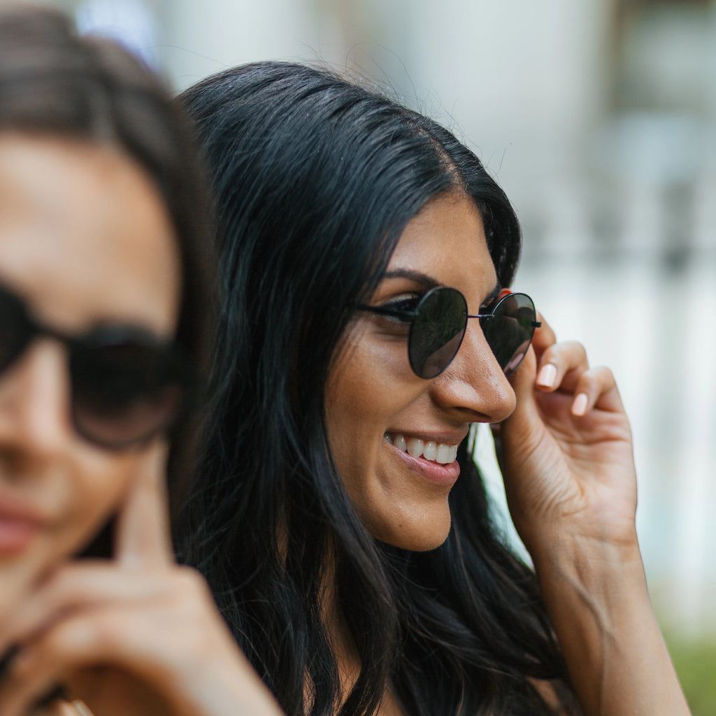 Women wearing Callula Co. petite sunglasses