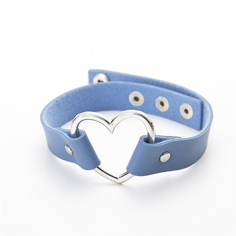 HEART STUDDED CHOKER - Official Raveology