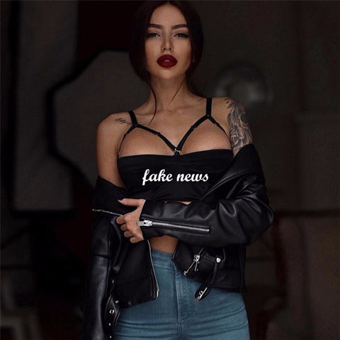 """FAKE NEWS"" TANK TOP - Official Raveology"
