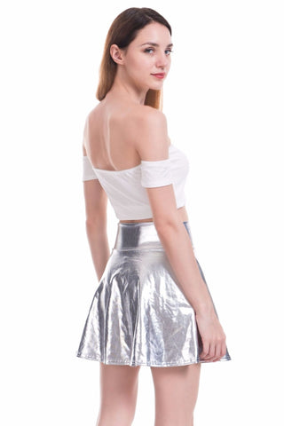 HIGH WAISTED FOIL SKIRT (4 Colors) - Official Raveology