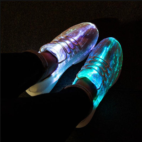 FIBER OPTIC LED SHOES (UNISEX) - Official Raveology
