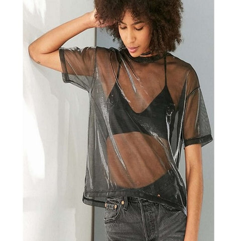 GO WITH THE FLOW MESH TOP - Official Raveology