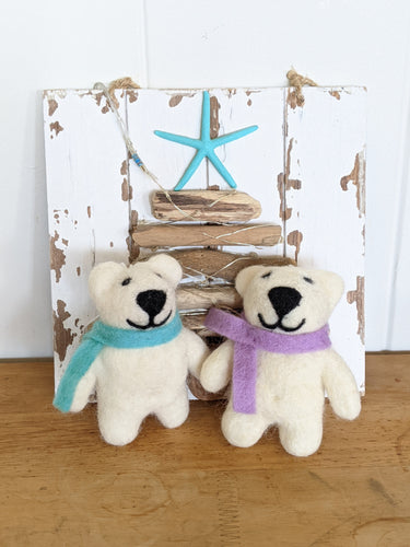 Happy Bears Wool Ornaments