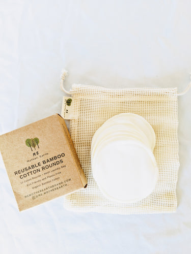 Reusable Organic Bamboo Cotton Makeup Rounds