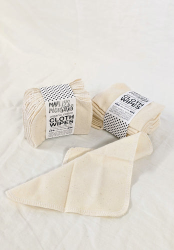Organic Cloth Wipes (12-pack)