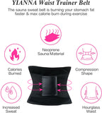 YIANNA Waist Trainer Belt for Women - Waist Trimmer Weight Loss Ab Belt Sport Workout Back Support Girdle Belt (Updated)