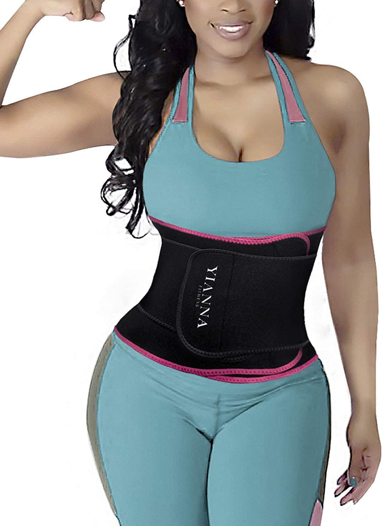 YIANNA Sweat Waist Trainer Belt Compression Belly Sport Girdle Waist Trimmer for Women/Men Weight Loss