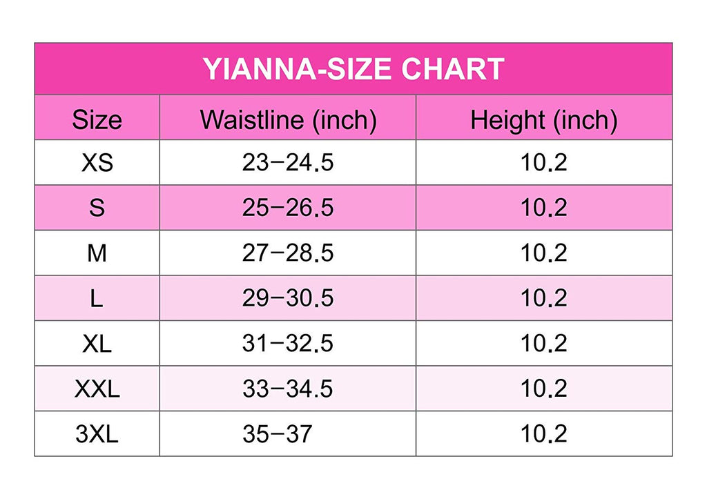 YIANNA Women 25 Bones Latex Short Torso Waist Trainer Corsets for Weight Loss Hourglass Body Shaper
