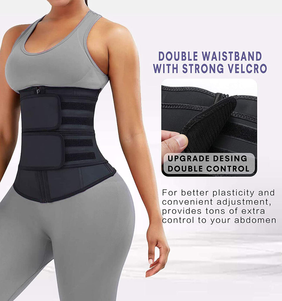 YIANNA Workout Waist Trainer for Women Tummy Control Sauna Jsculpt Latex Waist Cincher for Weight Loss