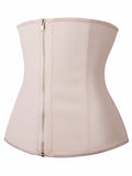 YIANNA Women Latex Underbust Waist Training Corsets/Cincher Zip&Hook Hourglass Body Shaper