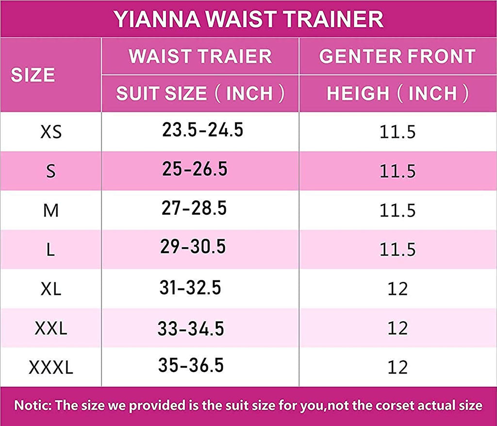 YIANNA Waist Trainer for Women - Slimming Shaper Ab Support Waist Trimmer Body Shaper