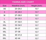 YIANNA Womens Long Torso 4 Row Hooks Waist Trainer Slimming Fajas Colombiana Latex Waist Body Shaper Sports Girdle Belt