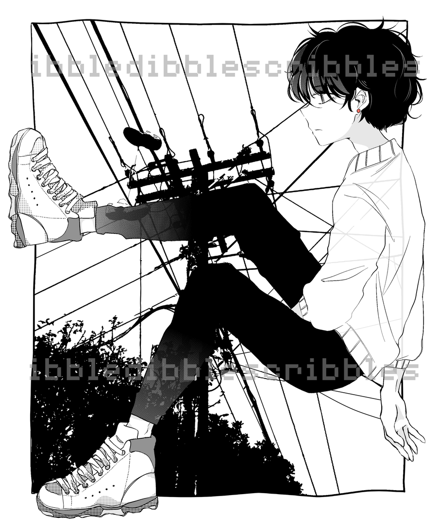 Telephone Wire Print (8.5
