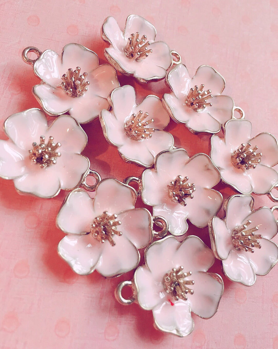 Metal Flower Drop Add On-Add On-Ibble's Scribbles-Ibble's Scribbles-charm-pastel-kawaii-cute