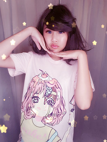 cake! T-Shirt-T-shirt-Ibble's Scribbles-Small-Ibble's Scribbles-charm-pastel-kawaii-cute