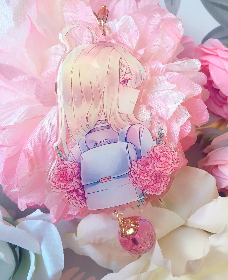NDRV3 Flower Language Charms-Charm-Ibble's Scribbles-Kaede (Pink)-Ibble's Scribbles-charm-pastel-kawaii-cute
