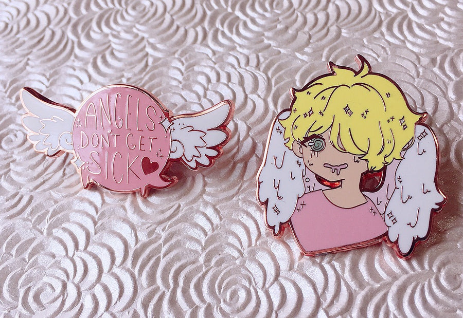 Angels Hard Enamel Pins-Enamel Pin-Ibble's Scribbles-Icarus-Ibble's Scribbles-charm-pastel-kawaii-cute