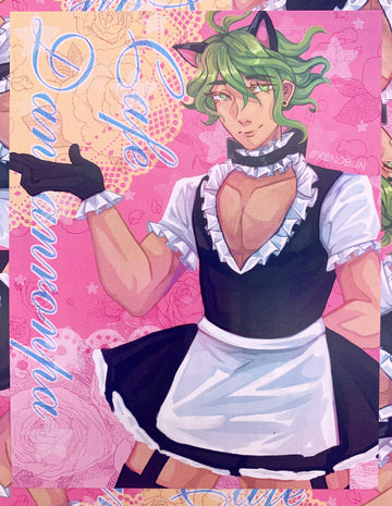 Cat Maid Rantaro Mini Print