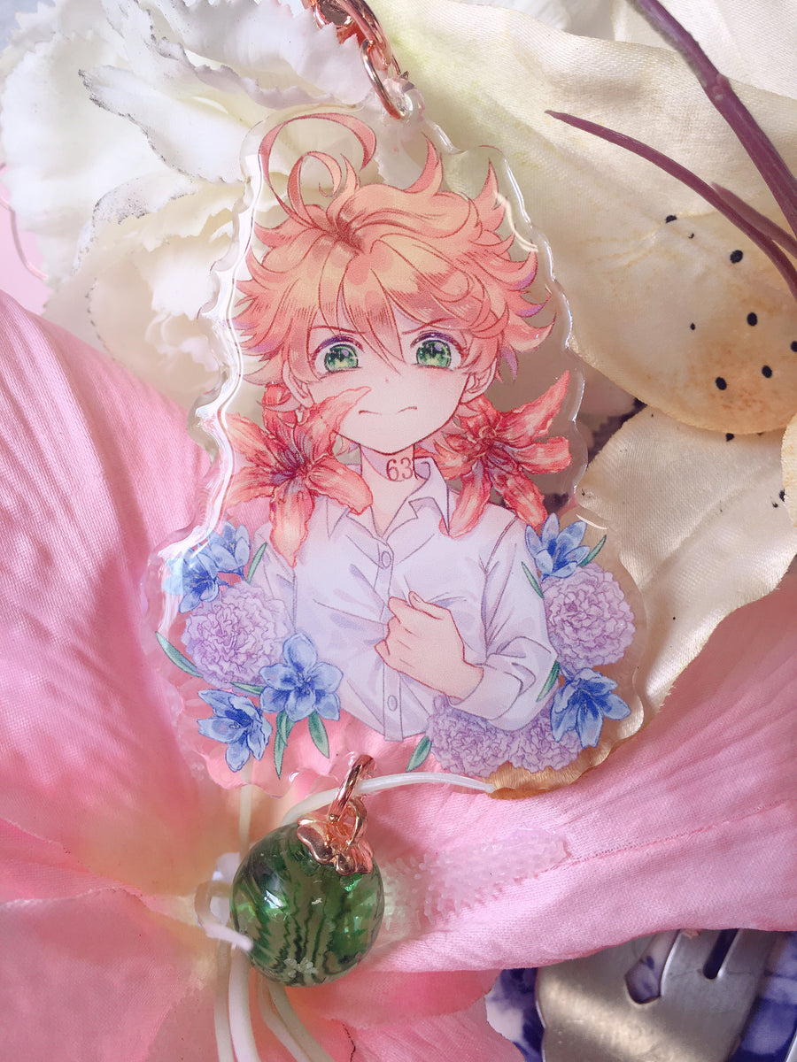 The Promised Neverland Flower Language Acrylic Charms
