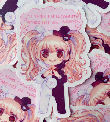 Junko Atrocities Transparent Vinyl Sticker