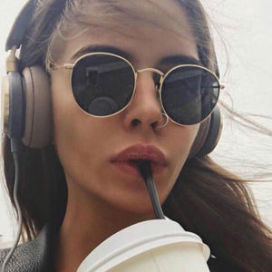 Luxury Round Aviator Sunglasses