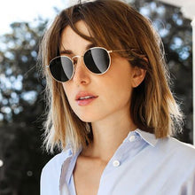 Load image into Gallery viewer, Luxury Round Aviator Sunglasses