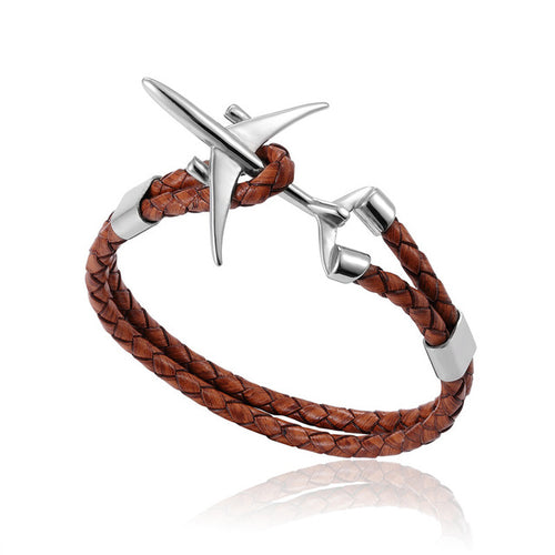 BOEING 777 AIRPLANE LEATHER BRACELETS